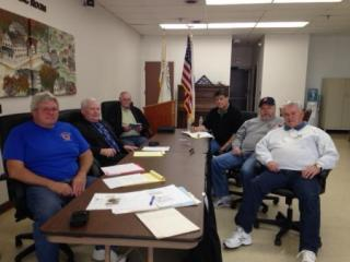 From Left: Paul Chute, Board of Selectmen Chair Frank Hegarty, Jack McEntee, Mike Stanley, Stan Stanevicz & Ron Smith