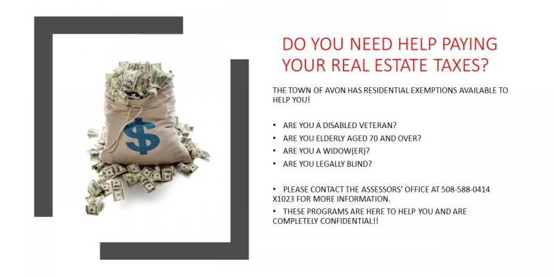 HELP PAYING REAL ESTATE TAX
