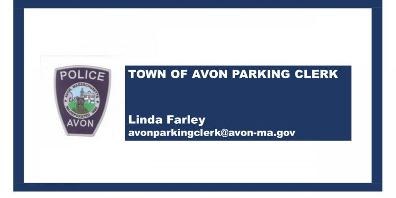 Image of police patch and parking clerk information