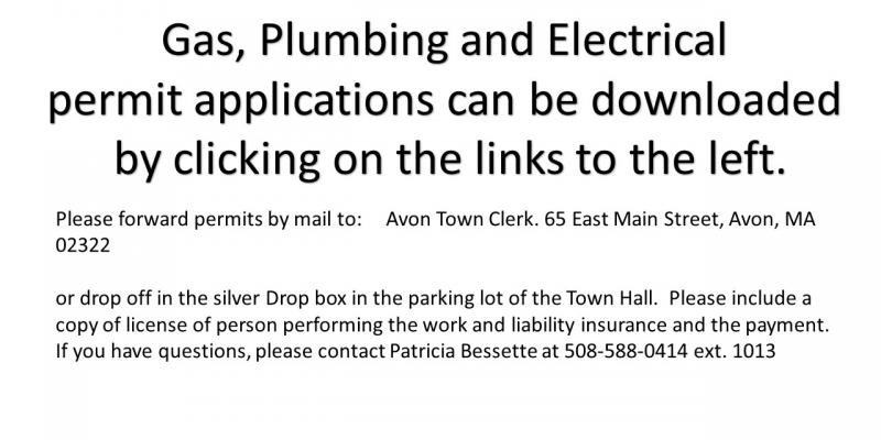 Gas, Plumbing and Electrical Permit Applications