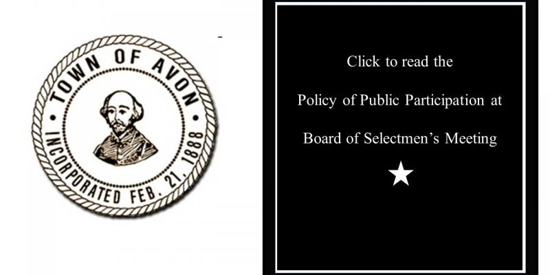Image of town logo and information about the Public Policy of Participation